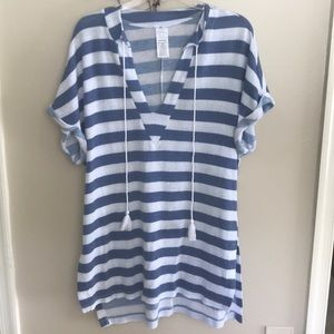 Other - Blue and white striped bathing suit cover up